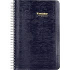 "Blueline Wirebound Daily Appointment Planner - Daily - 1 Year - January 2021 till December 2021 - 7:00 AM to 7:30 PM - 1 Day Single Page Layout - 5"" x 8"" Sheet Size - Wire Bound - Blue - Appointment Schedule, Reference Calendar, Notes Area, Tear-off, Addr"