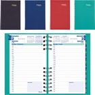 """Blueline CoilPro Daily Planner - Julian Dates - Daily - January 2021 till December 2021 - 7:00 AM to 7:30 PM - Half-hourly - 1 Day Single Page Layout - 5"""" x 8"""" Sheet Size - Assorted - Bilingual, Laminated, Hard Cover, Address Directory, Phone Directory, E"""