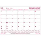 "Brownline Monthly Desk Calendar Refill - Monthly - 1 Year - January 2020 till December 2020 - 1 Month Single Page Layout - 23 1/2"" x 18 1/4"" Sheet Size - Desk Pad - White - Reference Calendar - 1 Each"