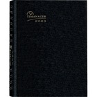 """Blueline CoilPro Weekly Timanager Appointment Planner - Weekly - 1 Year - January 2021 till December 2021 - 7:00 AM to 8:30 PM - 8 1/2"""" x 11"""" Sheet Size - Black - Laminated - 1 Each"""