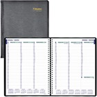 """Blueline 40547 Hour Weekly Appointment Planner - Weekly - January 2021 till December 2021 - 7:00 AM to 8:45 PM, 7:00 AM to 4:45 PM - 1 Week Double Page Layout - 8"""" x 10 3/4"""" Sheet Size - Wire Bound - Black - Bilingual, Reference Calendar, Address Director"""