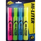 Avery® Hi-Liter Desk Style Highlighter - Chisel Marker Point Style - Yellow, Pink, Orange, Green - 4 / Set