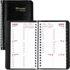 """Blueline Brownline Telephone/Weekly Appointment Book - Yes - Weekly - January 2021 till December 2021 - 7:00 AM to 6:00 PM - 1 Week Double Page Layout - 3 1/2"""" x 6"""" Sheet Size - Twin Wire - Black - Tabbed, Address Directory, Phone Directory, Tear-off, Sof"""