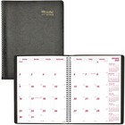 "Brownline 14-month Planner - Monthly - December 2020 till January 2022 - 11"" x 8 1/2"" Sheet Size - Wire Bound - Black - 1 Each"