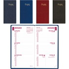 """Brownline Weekly Pocket Appointment Book - Weekly - January 2021 till December 2021 - 9:00 AM to 5:00 PM - 1 Week Double Page Layout - 3 1/16"""" x 6"""" Sheet Size - Assorted - Pocket, Flexible, Tear-off, Phone Directory, Address Directory, Notepad, Reference"""
