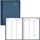 """Blueline Essential Weekly Appointment Book - Weekly - January 2021 till December 2021 - 7:00 AM to 8:45 PM - Quarter-hourly, 7:00 AM to 5:45 PM - Quarter-hourly - 1 Week Double Page Layout - 8 1/2"""" x 11"""" Sheet Size - Blue - Address Directory, Phone Direct"""