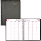 """Blueline Essential Daily Appointment Diary - Weekly - January 2020 till December 2020 - 7:00 AM to 7:45 PM - 1 Week Double Page Layout - 9"""" x 11 1/2"""" Sheet Size - Twin Wire - Black - Address Directory, Phone Directory, Tear-off, Notepad, Soft Cover - 1 Ea"""