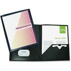 "Winnable Custom Presentation Pocket Portfolio - 9 1/2"" x 11 1/2"" Sheet Size - 2 Pocket(s) - Black - 1 Each"