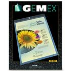 "Gemex Vinyl Hang-Up Style Sheet Holder - Letter - 8 1/2"" x 11"" Sheet Size - Vinyl, Metal - Clear - 1 Box"