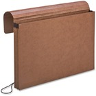 """Pendaflex Expandable Envelope - Legal - 8 1/2"""" x 14"""" Sheet Size - 1 3/4"""" Expansion - Red Fiber, Leather - Recycled - 1 Each"""