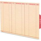 Pendaflex Oxford Shelf Out Guide - Legal - Red Tab(s) - 100 / Box