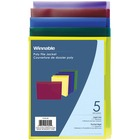 """Winnable Colored Poly File Jacket - Legal - 8 1/2"""" x 14"""" Sheet Size - 1"""" Expansion - Assorted - 5 / Pack"""