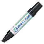 Jiffy JK100 Refillable King Size Eco-Marker - Broad Marker Point - Chisel Marker Point Style - Refillable - Black - 1 Each