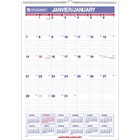 "At-A-Glance Ruled Daily Blocks Monthly Wall Calendar - Yes - Monthly - 1 Year - January 2021 till December 2021 - 1 Month Single Page Layout - 12"" x 17"" Sheet Size - Wire Bound - Wall Mountable - Chipboard, Paper - Reference Calendar, Eyelet - 1 Each"