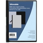 "Winnable Side Lock Report Cover - Letter - 8 1/2"" x 11"" Sheet Size - 30 Sheet Capacity - Black - 1 Each"