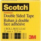 """3M Scotch Double Coated Tape - 0.5"""" Width x 90"""" Length - Plastic - Sunlight Resistant, Stain Resistant, Double-sided"""