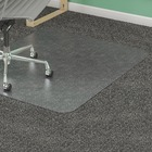 "Lorell Low Pile Rectangular Antistatic Chairmat - Carpeted Floor - 46"" (1168.40 mm) Length x 60"" (1524 mm) Width x 0.12"" (3.10 mm) Thickness - Rectangle - Clear"