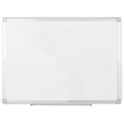 "MasterVision Earth Silver Easy-Clean Dry-erase Board - 36"" (3 ft) Width x 24"" (2 ft) Height - Melamine Surface - Aluminum Frame - Rectangle - 1 / Each"