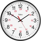 GBC 9847027 Bates 12/24 Quartz Wall Clock - Analog - Quartz - White Main Dial - Black