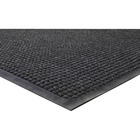 "Genuine Joe WaterGuard Indoor/Outdoor Mats - Carpeted Floor, Hard Floor, Indoor, Outdoor - 60"" (1524 mm) Length x 36"" (914.40 mm) Width - Rubber, Polypropylene - Charcoal Gray"