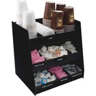 "Vertiflex Vertical 3-Shelf Condiment Organizer - 9 Compartment(s) - 15"" Height x 14.5"" Width x 11.8"" Depth - Black - 1Each"