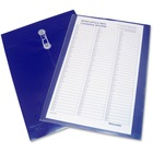 "Winnable Poly Interoffice Envelope - Business - 10"" Width x 15"" Length - 1"" Gusset - String/Button - Poly - 1Each - Dark Blue"