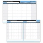 "Quartet 30/60 Day Laminated Planner - Monthly - 24"" x 36"" Sheet Size - Bilingual - 1 Each"