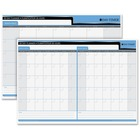 "Quartet 30/60 Day Laminated Planner - 17"" x 24"" Sheet Size - Bilingual - 1 Each"