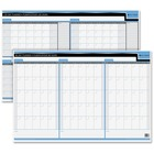"Quartet Double Sided Undated Planner - 24"" x 36"" Sheet Size - Bilingual, Laminated - 1 Each"
