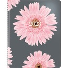 "Blueline Pink Ribbon Weekly Planner - Weekly - 1.1 Year - December 2020 till December 2021 - 7:00 AM to 7:30 PM, 7:00 AM to 4:00 PM - 6 3/4"" x 8 1/2"" Sheet Size - Twin Wire - Pink - Bilingual, Soft Cover - 1 Each"