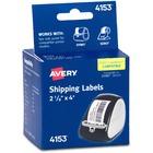 "Avery Thermal Label Printer 2 1/8x4"" Shipping Label - 2 1/8"" Width x 4"" Length - 140 / Box - Rectangle - 140/Sheet - White"