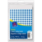 """Avery® Color Coded Label - Removable Adhesive - 1/4"""" Diameter - Circle - Laser, Inkjet - Blue - 192 / Sheet - 1152 / Box"""