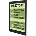 """Deflecto Superior Image Sign Holder - 8.50"""" (215.90 mm) x 11"""" (279.40 mm) x - 1 / Each - Clear, Black"""