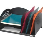 Safco 3 and 3 Combination Rack Organizer - 6 Compartment(s) - Desktop - Black - Steel - 1 / Each