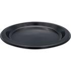 "Genuine Joe Round Plastic Black Plates - 9"" (228.60 mm) Diameter Plate - Plastic - Black - 125 Piece(s) / Pack"