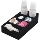 "Vertiflex Single-level Condiment Caddy - 7 Compartment(s) - 5.3"" Height x 8.8"" Width x 16"" Depth - Black - 1Each"