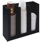 "Vertiflex 3-column Cup and Lid Holder Organizer - 11.75"" (298.45 mm) x 12.75"" (323.85 mm) x 4.50"" (114.30 mm) - 1 / Each - Black"