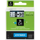 """Dymo D1 Electronic Tape Cartridge - 3/4"""" Width x 22 63/64 ft Length - Thermal Transfer - Clear - Polyester - 1 Each"""
