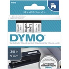 "Dymo D1 Electronic Tape Cartridge - 3/8"" Width x 22 63/64 ft Length - Thermal Transfer - White - Polyester - 1 Each"