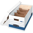 "Bankers Box STOR/FILE DividerBox File Storage Box - Internal Dimensions: 12"" (304.80 mm) Width x 24"" (609.60 mm) Depth x 10"" (254 mm) Height - External Dimensions: 12.9"" Width x 25.4"" Depth x 10.3"" Height - Media Size Supported: Letter - 5 Dividers - Lift"