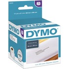 """Dymo White Address Labels - Permanent Adhesive - 3 1/2"""" Width x 1 1/8"""" Length - Rectangle - Direct Thermal - White - Paper - 130 / Roll - 260 / Box"""