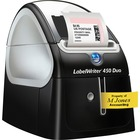 Dymo LabelWriter 450 Duo Direct Thermal Printer - Monochrome - Platinum - Label Print - 0.8 Second Mono - 600 x 300 dpi - D1 Tape
