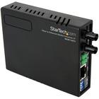 StarTech.com 10/100 Mbps Ethernet to Fiber Optic Media Converter - ST Multimode - 1310nm - 2km - Full/Half Duplex (MCM110ST2) - Convert and extend a 10/100 Mbps Ethernet connection up to 2 km over Multi Mode ST fiber - fiber converter - ethernet media con