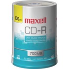 Maxell CD Recordable Media - CD-R - 48x - 700 MB - 100 Pack Spindle - 120mm - 1.33 Hour Maximum Recording Time