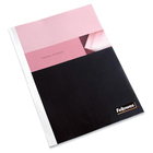 """Fellowes Thermal Presentation Covers - 1/16"""" , 15 sheets, White - 11"""" Height x 8.5"""" Width x 0.1"""" Depth - 0.1"""" Maximum Capacity - 15 x Sheet Capacity - 11 1/8"""" x 9 3/4"""" Sheet - White, Clear - 10 / Pack"""