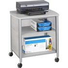 """Safco Impromptu Machine Stand - 45.36 kg Load Capacity - 26.25"""" (666.75 mm) Height x 26.25"""" (666.75 mm) Width x 21"""" (533.40 mm) Depth - Powder Coated, Laminate - Steel, Polycarbonate - Gray"""