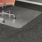 "Lorell Rectangular Medium Pile Chairmat - Carpeted Floor - 60"" (1524 mm) Length x 46"" (1168.40 mm) Width x 0.17"" (4.39 mm) Thickness - Rectangle - Vinyl - Clear"