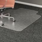 "Lorell Wide Lip Medium Pile Chairmat - Carpeted Floor - 53"" (1346.20 mm) Length x 45"" (1143 mm) Width x 0.17"" (4.39 mm) Thickness - Lip Size 12"" (304.80 mm) Length x 25"" (635 mm) Width - Vinyl - Clear"