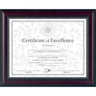 "DAX Prestige Document Frame - 13.12"" x 10.62"" Frame Size - Holds 11"" x 8.50"" Insert - Desktop - Vertical, Horizontal - Easel Back, Hanger - 1 / Each - Glass - Rosewood"