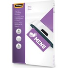 """Fellowes Glossy Pouches - Menu, 3 mil, 50 pack - Laminating Pouch/Sheet Size: 11.50"""" Width x 17.50"""" Length x 3 mil Thickness - Type G - Glossy - for Menu, Document - Durable - Clear - 50 / Pack"""